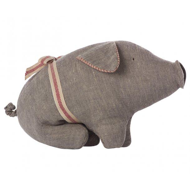 Maileg pig grey small