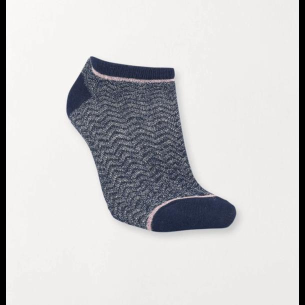 Dollie zig zag sock Classic Navy