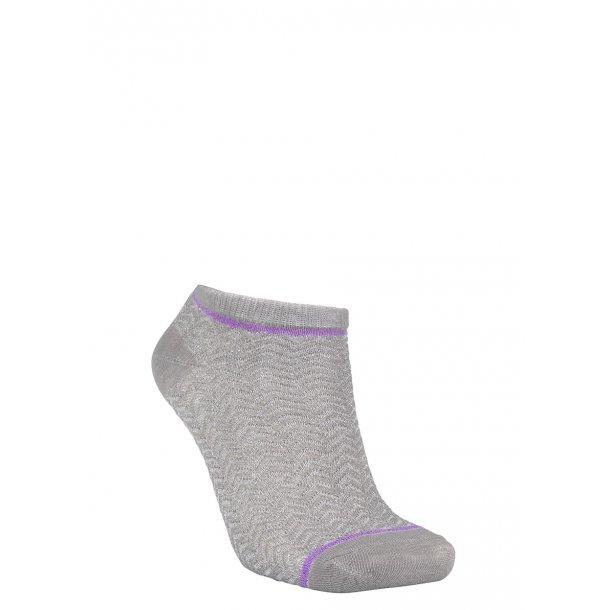 Dollie zig zag sock Light grey