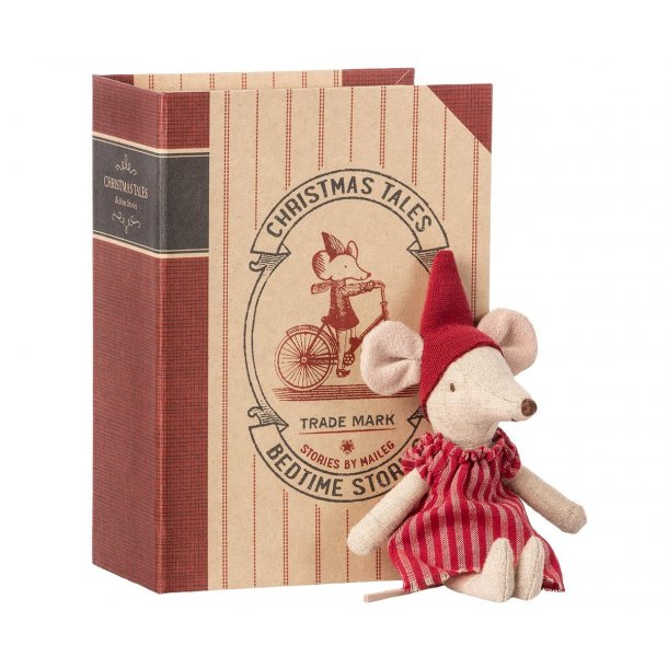Christmas mouse in book Big sister