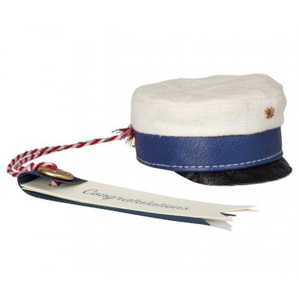 Maileg Medium student hat blå
