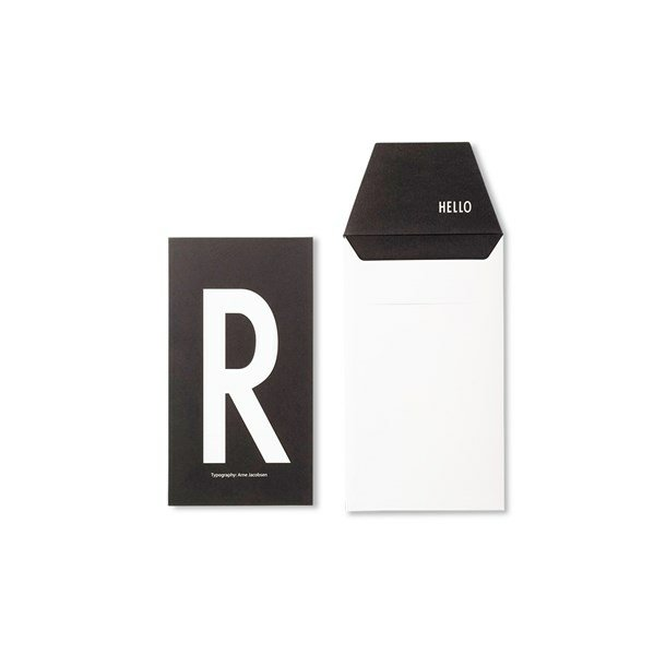 Design Letters Card R