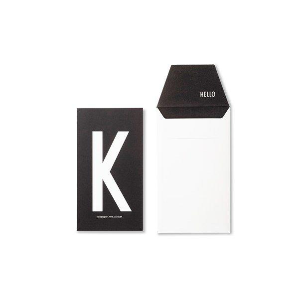Design Letters Card K