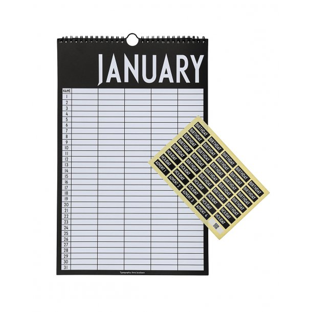 Design Letters Monthly Planner