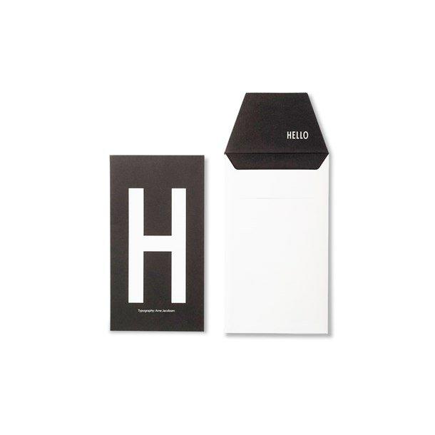 Design Letters Card H