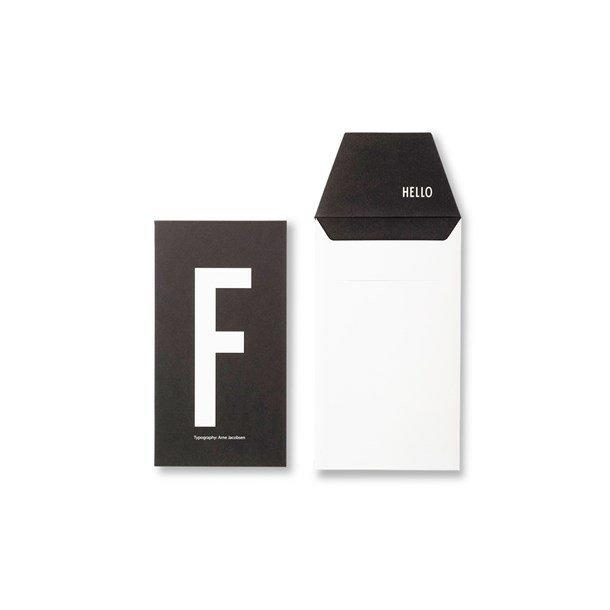 Design Letters Card F