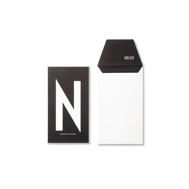 Design Letters Card N