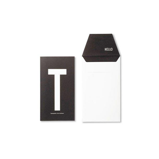 Design Letters Card T