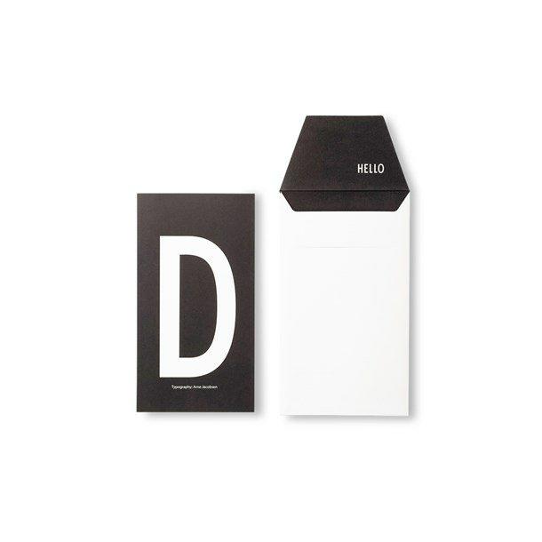 Design Letters Card D