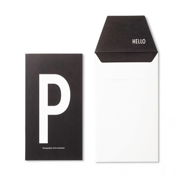 Design Letters Card P