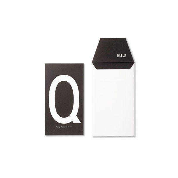Design Letters Card Q