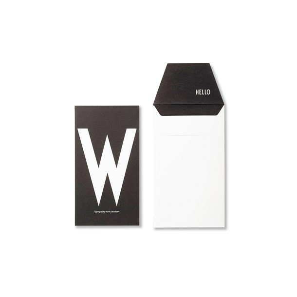 Design Letters Card W