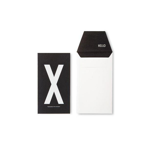 Design Letters Card X