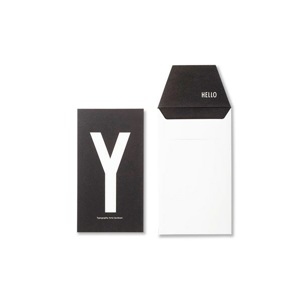 Design Letters Card Y