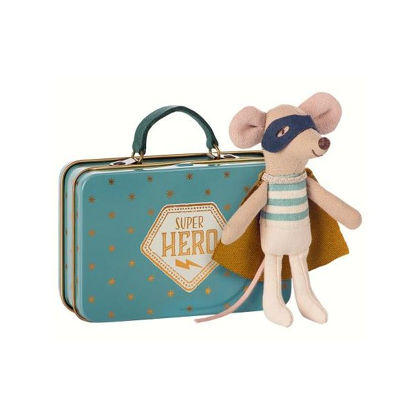 Maileg mouse suitcase super hero