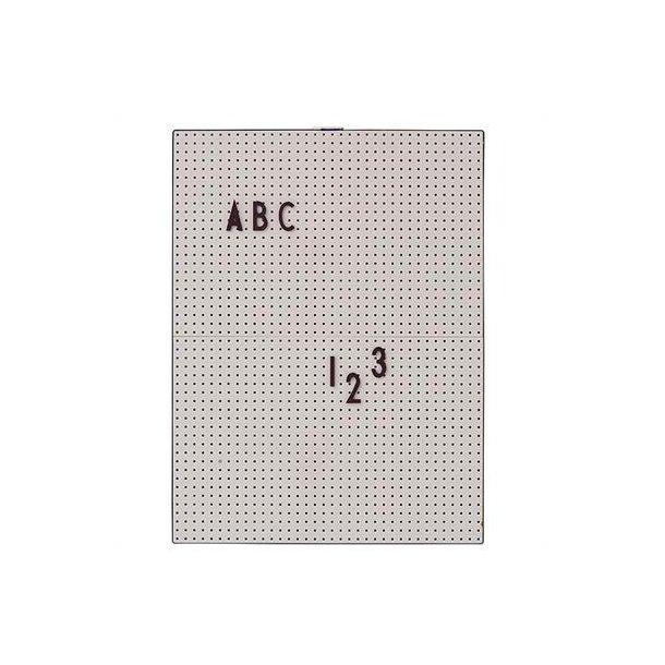 Design Letters Message Board grå