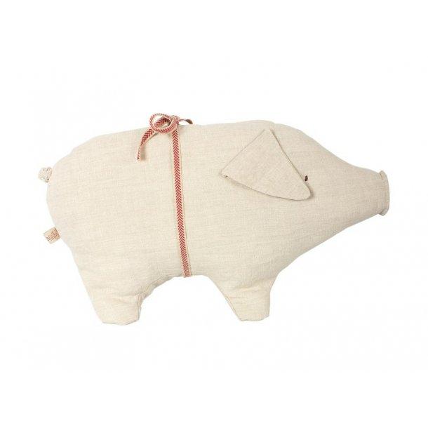Maileg Pig large hør med bånd